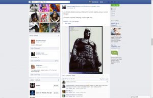 batman facebook shared