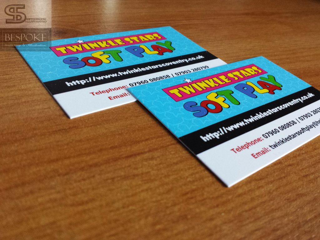 Twinkle Stars Soft Play Business Cards - Sketchbook Illustrated