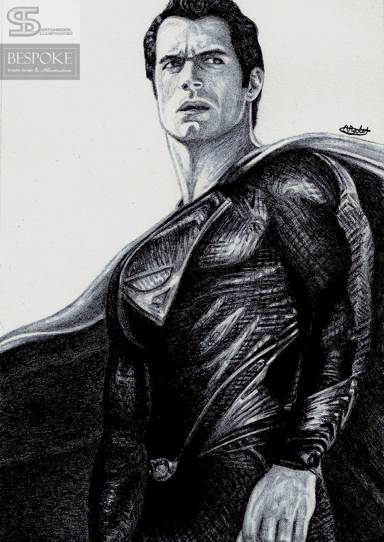 Superman Drawing Sketchbook Illustrated