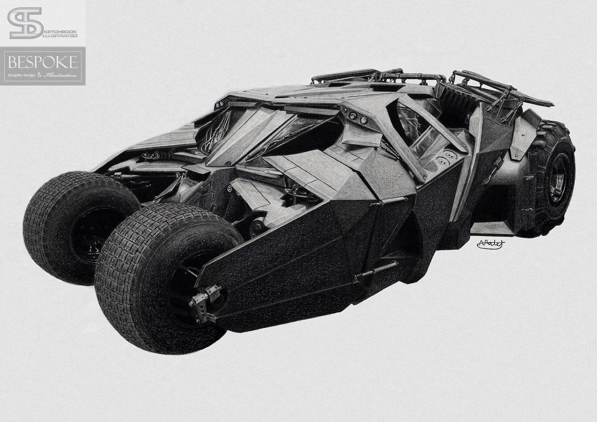batman tumbler drawing