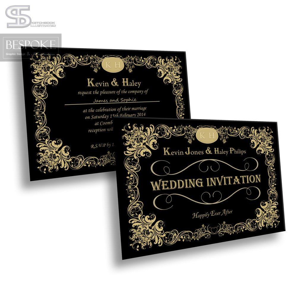 Wedding Invitation - Design 11 - Sketchbook Illustrated