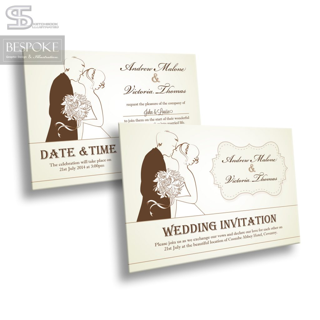 Wedding Invitation - Design 18 - Sketchbook Illustrated