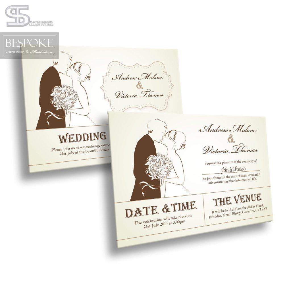 Wedding Invitation - Design 18 - Sketchbook Illustrated
