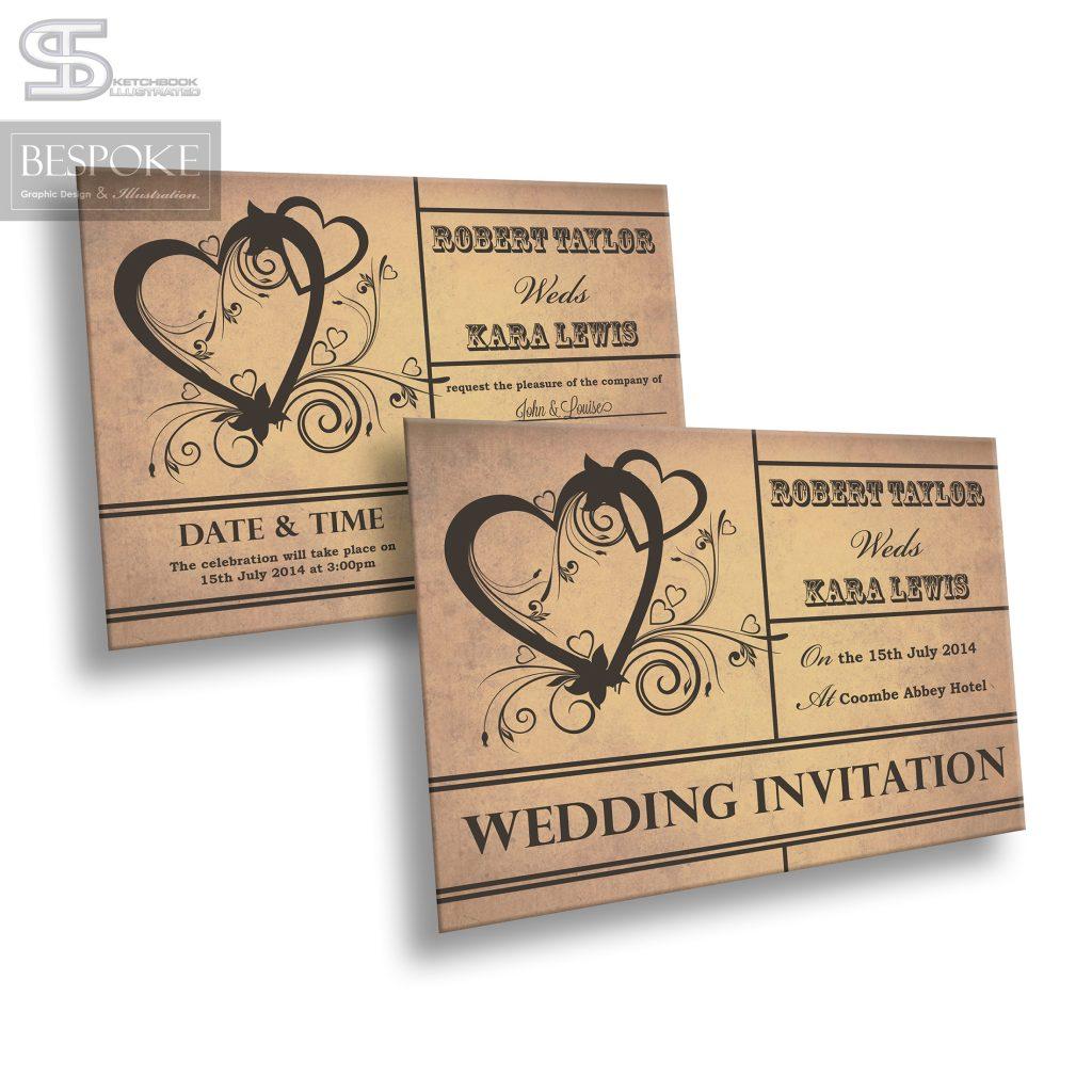 Wedding Invitation - Design 20 - Sketchbook Illustrated