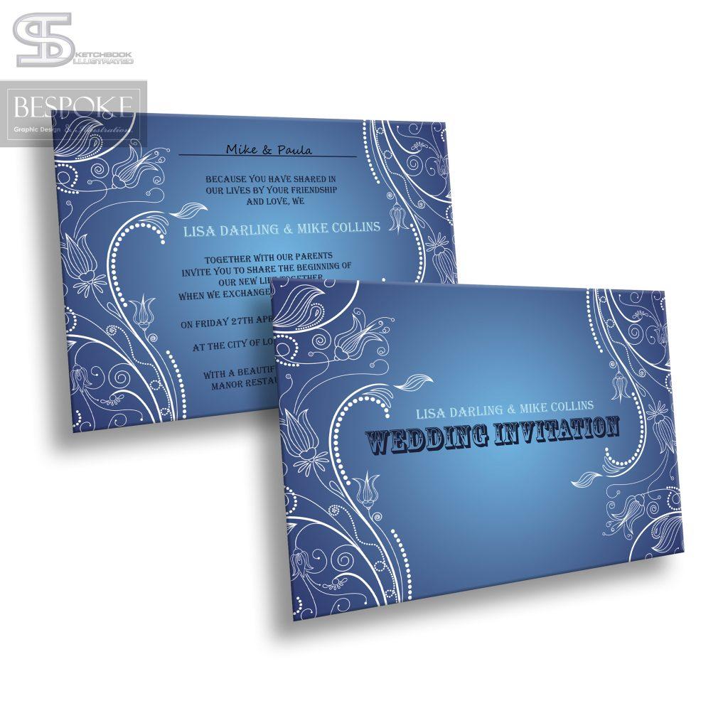 Wedding Invitation - Design 5 - Sketchbook Illustrated