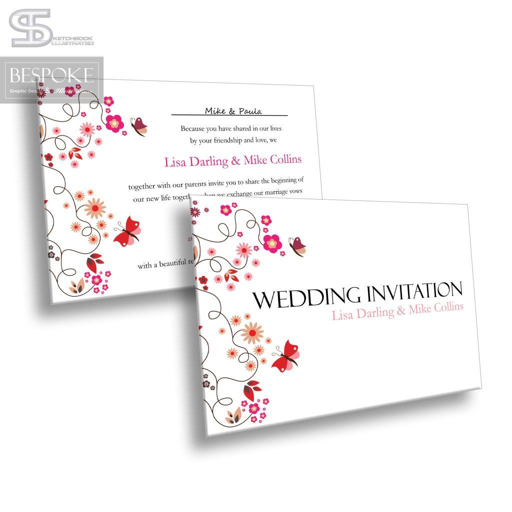 Wedding Invitation - Design 7 - Sketchbook Illustrated