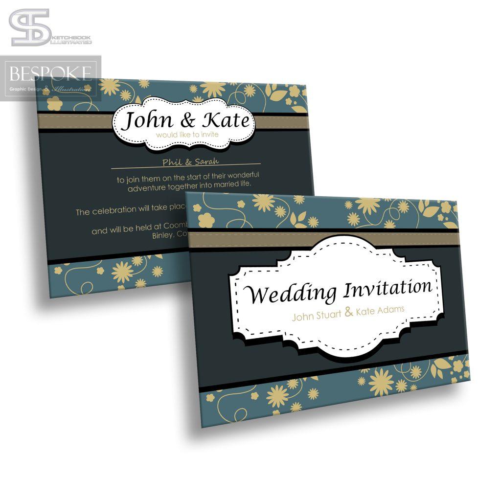 Wedding Invitation - Design 8 - Sketchbook Illustrated