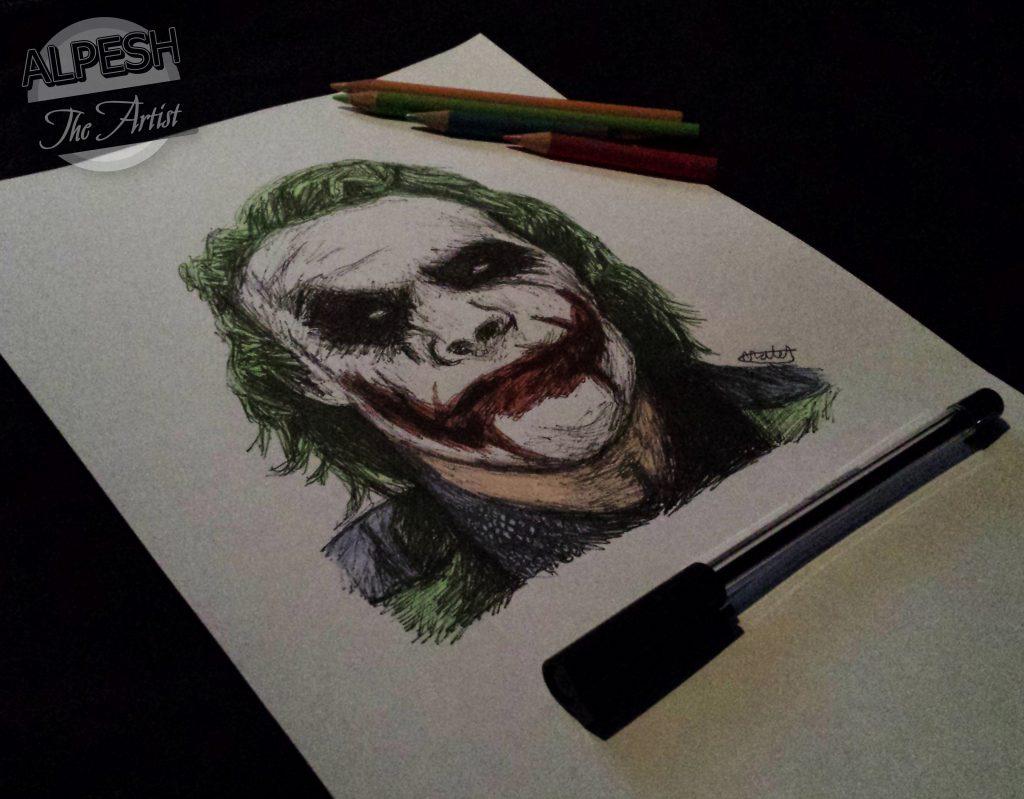 the joker sketch sketchbook illustrated